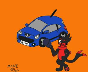 Koron And His Car(GF to ThedarkBuizel) by MC4E84