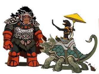 Kajaji and the Jojun by JeffChangArt