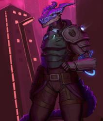 Neon Dragon by SurealKatie
