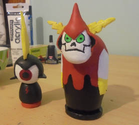 Hater and Peepers Figures by C-Peepsqueak