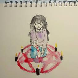 Day 8 Inktober: Blood Witch by MidoriAoki