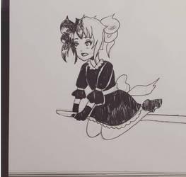 Day 9 Inktober: Lolita Witch by MidoriAoki