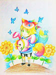Chibi Rainbow Tails by molerskates
