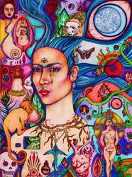 Frida Kahlo Homage by lauraborealisis