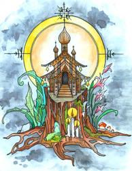 Stump Shrine by lauraborealisis
