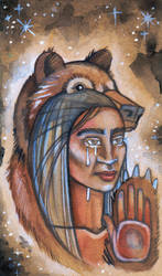 Bear Woman of the Nespelems by lauraborealisis