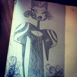 Girl Pencil by Desoluz