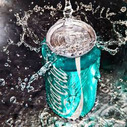 coca cola aqua by SaphoPhotographics