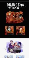 Orange team~ by HimariHimura