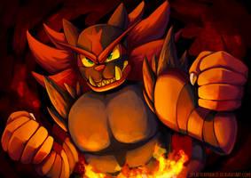 Incineroar! by SplatterParrot