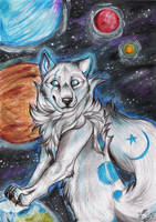 Ice Wolf by ZairaHusky