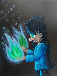 Blu and Green Flames by CrazyStarlightRene01