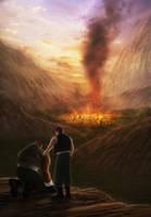 Barret's Flashblack - North Corel in flames by ZhouJiaSheng