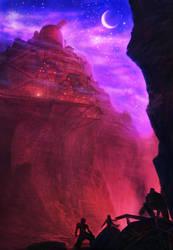 FFVII - Car breaks down near Cosmo Canyon by ZhouJiaSheng