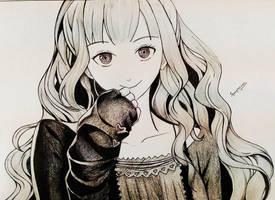 random manga girl by somprava7