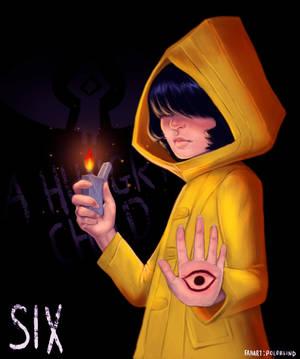 Little Nightmares Fanart - Six, A Hungry Child by Midori-no-Usagi
