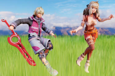 Shulk and Fiora Model DL by MisterOrzo