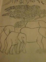 Elephants by T-art-freak
