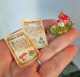 MINIATURE MAGIC MUSHROOM a by AnnaBellLeeArt