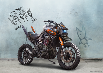Chappie inspired motorcycle by Jakusa1