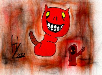 Demon Caterpillar Thing by squigglychicken
