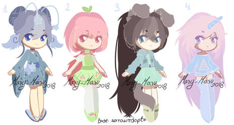 Fantasy chibi adopts [OPEN 3/4] MOVED by Mary-Maru