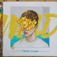 Troye Sivan - WILD EP COVER DRAWING by AshleighEllenArt