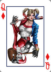 Harley Quinn Queen of Diamonds by Mattspaintings