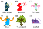 100 Creature Challenge 5 by Preed-Reve