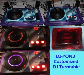 DJ-PON3/Vinyl Scratch turntable collage by sethbramwell