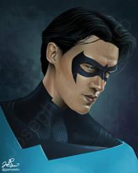 Finn Wittrock as Nightwing by JGiampietro
