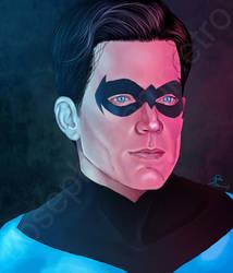 Nightwing Painting by JGiampietro