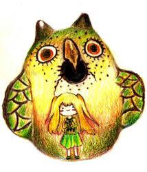 Prismacolor Owl Artifact by HimawariYume