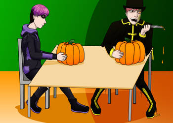 TS Halloween Art Trade by Jayde-Airs by theflotinghead