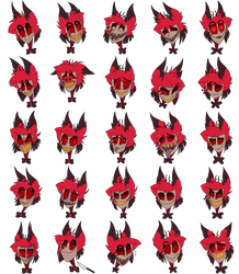 Alastor Emotion Chart by theflotinghead