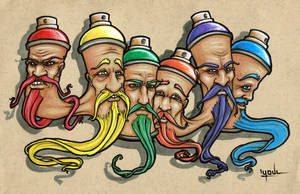 Bombing Headz Letters by YoulDesign