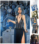 BlueNight 43x62'' canvas by YoulDesign