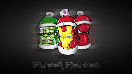 Street Heroes Free Wallpaper by YoulDesign