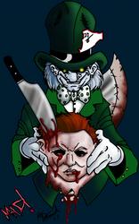 Mad Hatter VS Mike Myers by xXBlackKatXx