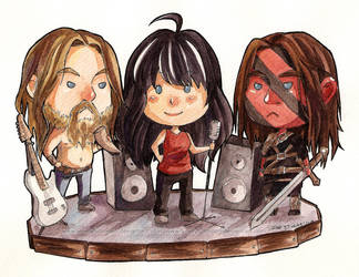 Tiny Metalheads - Commission for Bolton-Ramsay by LonelyFullMoon