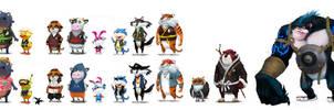 kung fu characters set by syarul