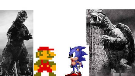 Toho and Daiei, Nintendo and Sega by Zillatamer1995