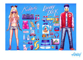 Danny and Kudatzky by amirulhafiz