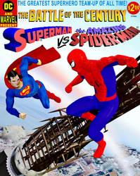 Superman vs Spider-Man by TalesoftheZombie