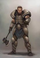 110618-axe wielder knight by pc-0