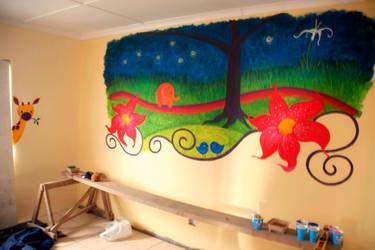 Girls Room Mural -South Africa by Kyouko-Takara