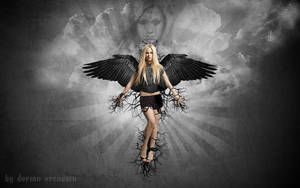 Avril Lavigne (Black Wings) by DorianOrendain