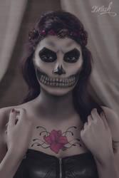 Skull Girl Make Up by DorianOrendain