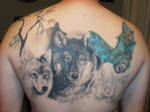 second sitting of wolves tattoo by almosthuman75