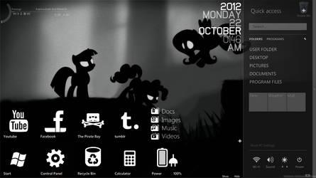 My gloomy desktop by TheKidProductions